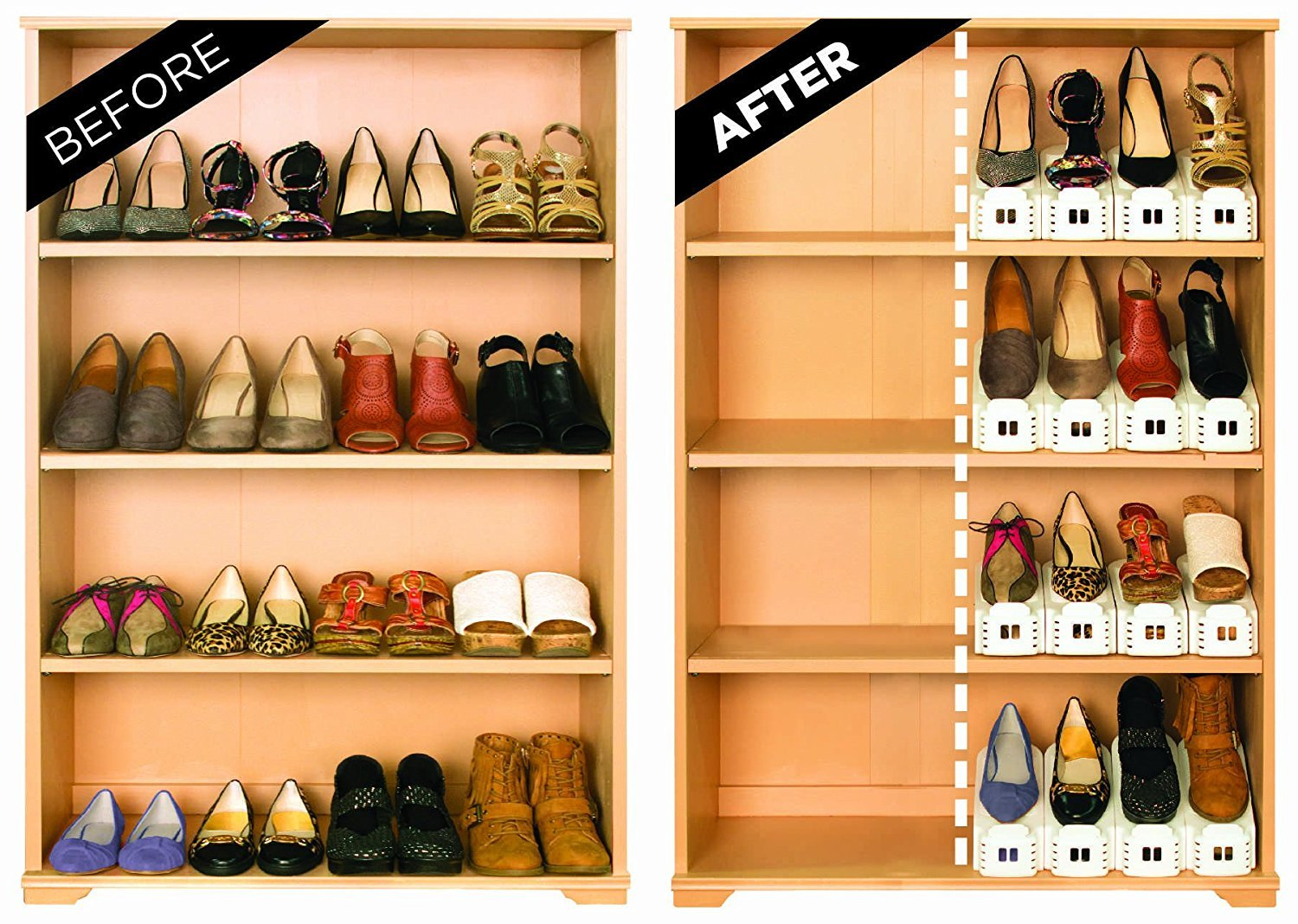 Creative space-saving shoe storage products!
