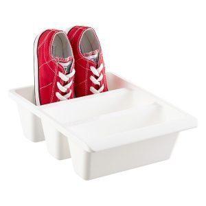 3-section shoe bin