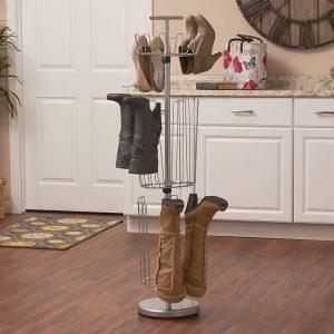 Household essentials revolving shoe tree