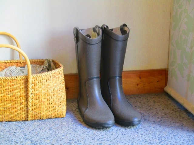 Boot Storage Solution in the entryway and in a closet