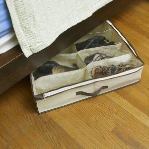 under the bed bag shoe storage