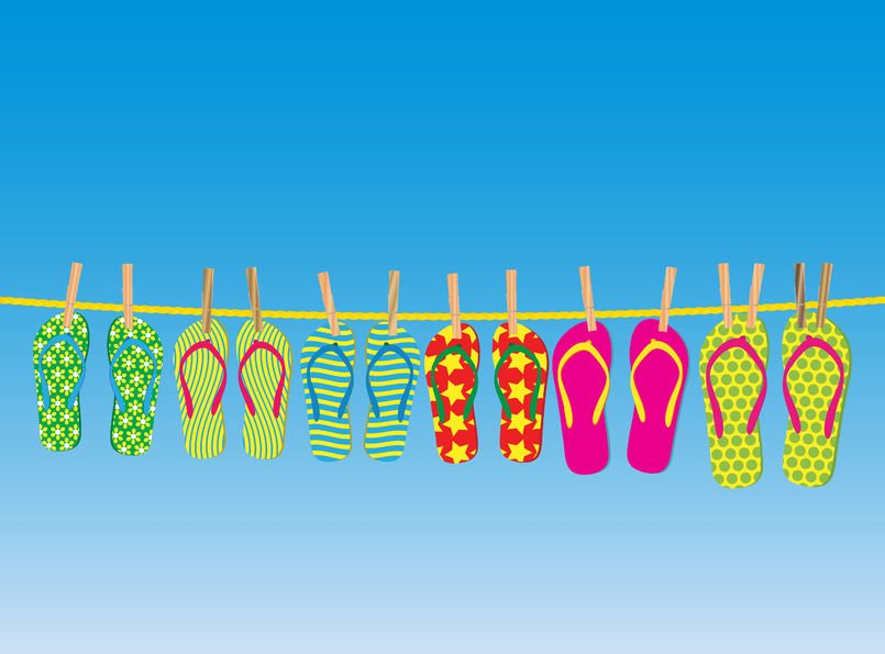 Flip-flops storage solution: short-term and long-term!
