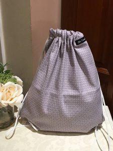 drawstring shoe gray white bag