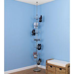 Floor-to-Ceiling-Revolving-Shoe-Tree-Chrome