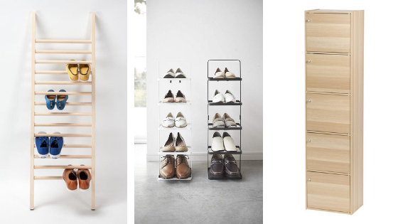Shoe rack for limited space: Narrow shoe rack, shoe ladder and more!