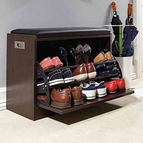Delux shoe ottoman bench tilt-out