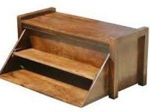 mango wood shoe bench