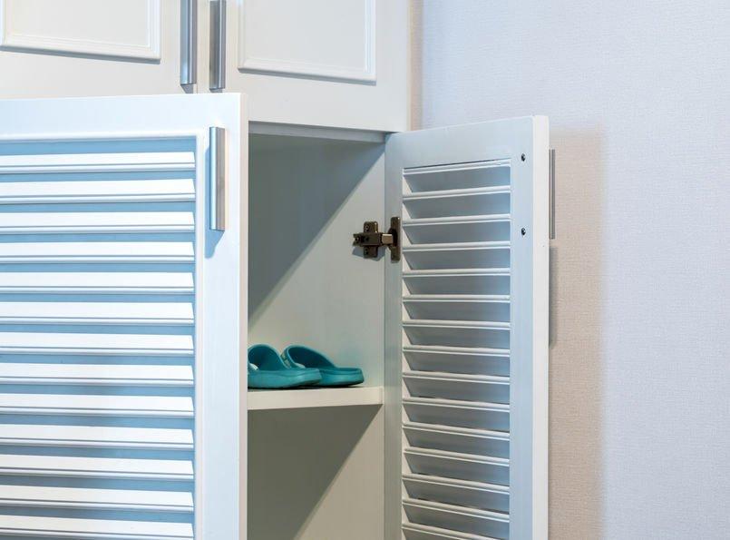 Shoe cabinet with doors?