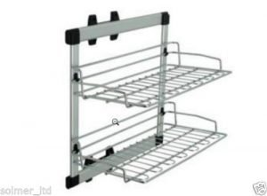 Pull out bedroom side mounted & two level shoes rack - 10805