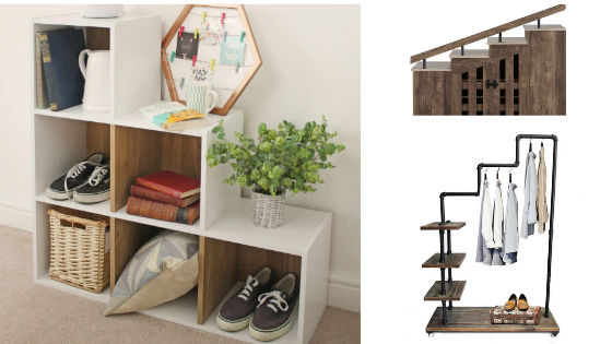 Step bookcase as a shoe rack or… step style shoe rack?