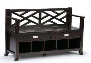 Simpli Home Contemporary Entryway Storage Bench