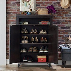 Furniture of America Eldero Shoe Cabinet in Espresso