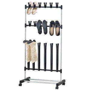 boot and shoe rolling rack