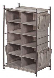 STORAGE MANIAC 5-Tier 10-Compartment Cubby Shoe Rack Organizer